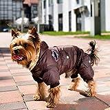 Abrigo cálido de camuflaje para perro, chaqueta de invierno impermeable para...