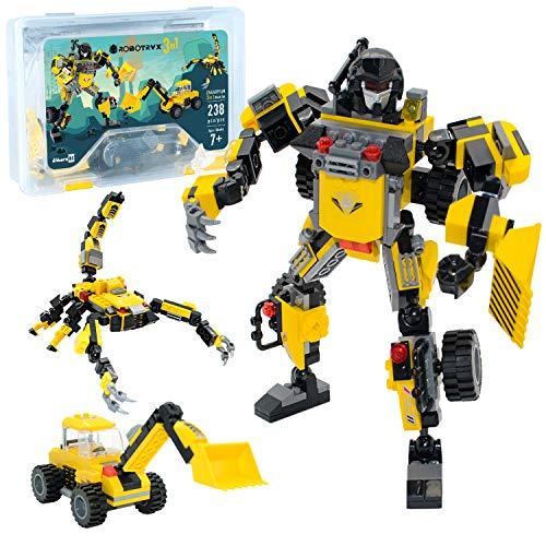 JITTERYGIT Robot STEM Toy | Juego creativo divertido 3 en 1 | Juguetes de construcción para niños y niñas de 6 a 14 años | El mejor regalo de juguete para niños | Kit de póster incluido