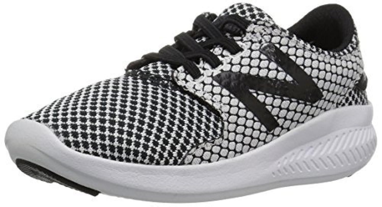 New Balance Boys' Coast v3 Hook and Loop Running Shoe Black/White 6.5 M US Toddler [並行輸入品]