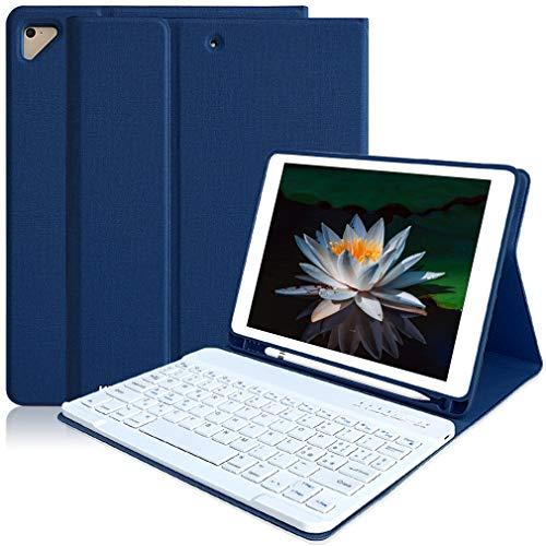 Tastiera shell Bluetooth per iPad 9.7, retroilluminazione a 7 colori italiana, ultrasottile 2018/2017 scatola automatica sleep/wake, iPad Pro 9.7, iPad Air 2/1 (blu navy)