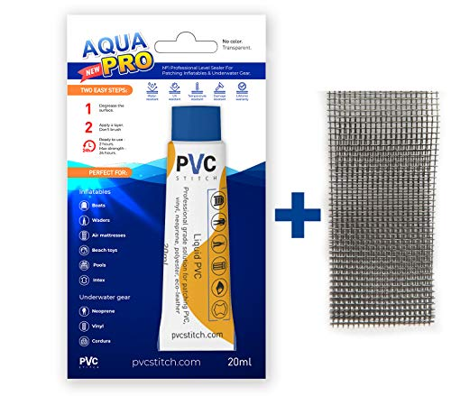 #1 Liquid Patch Waterproof Repair Kit For Inflatable & Underwater Gear | Glue +Cord | PRO Level Fluid Sealer For Boats Waders Pools Air mattresses Air beds Neoprene Vinyl PVC | Ready To Use In 2 Hours