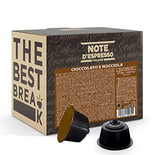 Note d'Espresso Italiano - Cápsulas Nescafé e Dolce Gusto, compatibles con cafeteras Nescafé e Dolce Gusto de Chocolate con Avellana, 48 x 14 g, Total 672 g