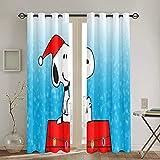 QQSDWQ Snoopy Vorhänge, 132 x 183 cm, durchgehender Druck,