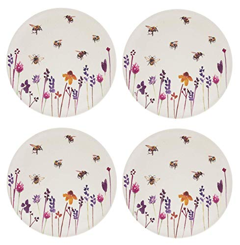 Busy Bees Eco Bamboo Set of 4 Dinner Plates by Lesser & Pavey