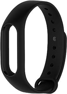 PINHEN for Xiaomi Mi Band 2 Silicone Strap - Waterproof Silicone Wrist Band Wristband Bracelet Accessories for Xiaomi Mi Band 2 and Mi Band HRX (Black)