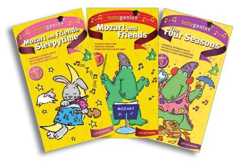 Baby Genius Three Pak (The Four Seasons/Mozart and Friends/Sleepytime) [VHS]