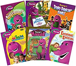 Ultimate Barney 6-Movie Learning Collection: You Can Be Anything/Best Manners/Dino Dancin' Tunes/Happy Mad Silly Sad/Barney's House/Everyone is Special [PBS Kids Educational Set]