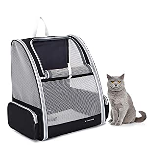 Z-MGKISS Cat Backpack Carrier,Comfortable Pet Backpack for Cat,Dog Backpack Carrier for Small Dogs for Travel Hiking
