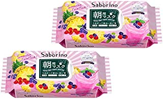 【2個セット】Saborino サボリーノ 目ざまシート ベリースムージーの香り 朝用シートマスク 28枚入り×2個