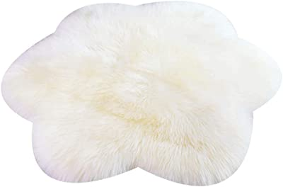 Amazon Com Windward Natural Sheepskin Plush Area Rug