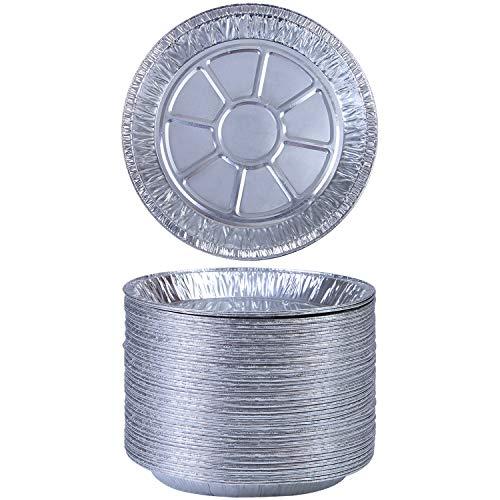 Aneco 40 Pieces 9 Inches Pie Pans Disposable Aluminum Foil Pie Plates for Baking, Cooking