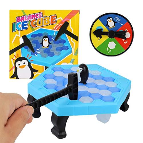 HSKB Interaktives Schlagspiel Pinguin Trap Tischspiel Balance Ice Cubes Langlebiges Schlagspielzeug Lustiges Brettspiele mit Hämmer Geschenke für die Ganze Familie Jungen Mädchen Kinder Spielzeug