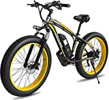 RDJM Bici electrica, La Grasa de Bicicletas de montaña eléctrica, 26 Pulgadas Electric Bike Mountain 4.0 Fat Tire Bike Nieve 1000W / 500W 48V 10AH Fuerte Poder de la batería de Litio