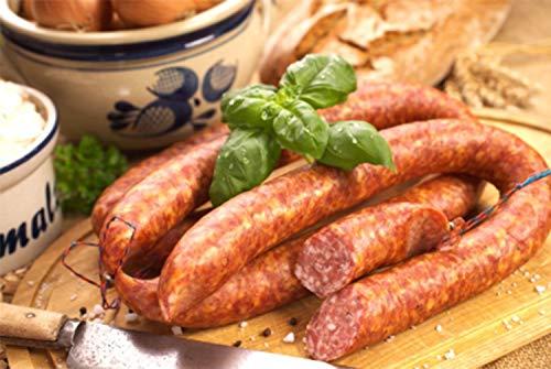 Ahle Wurst nordhessische Spezialität – Stracke edel Salami geräuchert am Stück - luftgetrocknete Mettwurst – ausgezeichnet zur besten Wurst 2016 – 250 gr