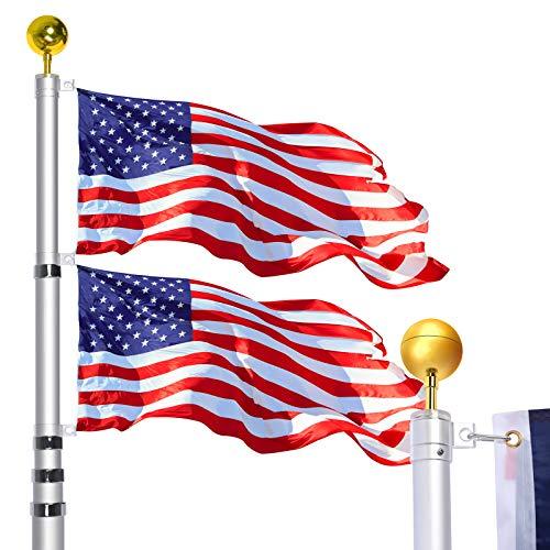 WinisKi Telescoping Flag Pole 30ft