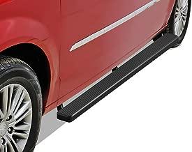 APS iBoard Running Boards 4 inches Matte Black Custom Fit 2011-2020 Dodge Grand Caravan & 2011-2016 Chrysler Town Country (Nerf Bars Side Steps Side Bars)