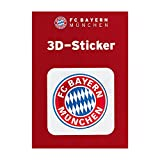 FC Bayern München Autoaufkleber/Sticker/Aufkleber 3D Logo rot FCB - Plus gratis Aufkleber Forever München