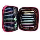 13 pares Set de agujas de tejer intercambiables Tejer circular de aluminio con 2.75mm-10mm Agujas Head Manijas ergonómicas