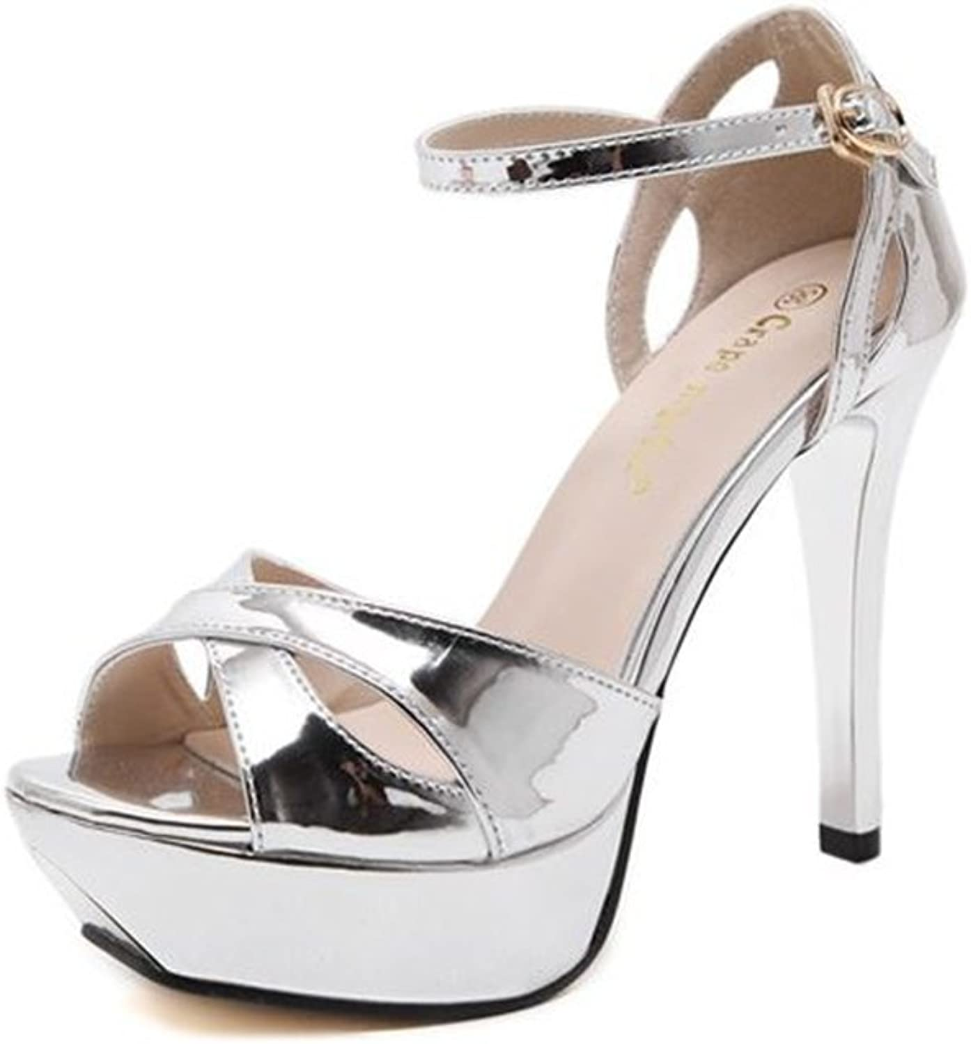 Eleganceoo Women's Pointed Toe Ankle Strap High Heel Stiletto Pumps shoes.