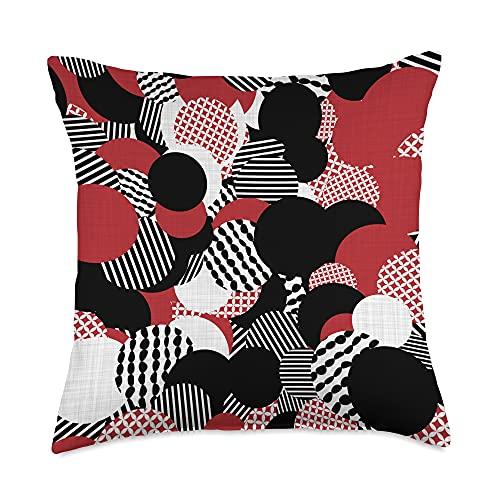Traditional Japanese Kimono Elegazelle Designs Wagara Traditional Japanese pattern design Throw Pillow, 18x18, Multicolor