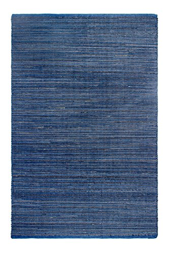 Fab Habitat - Alfombra de goma y polipropileno, para interiores y exteriores, grande, color azul