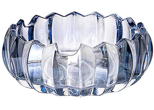 Uotyle Posacenere in vetro di cristallo rotondo per auto, camera, ristorante (13,6 cm x 5...