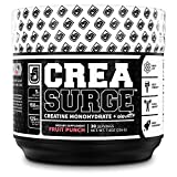 CREASURGE Pre Workout Creatine Powder w/ ElevATP - Muscle Builder & Preworkout Strength Supplement | Boost ATP, Muscle Growth, Power & Performance - Caffeine Free - 30 Sv, Fruit Punch