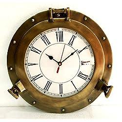12 Antique Marine Brass Ship Porthole Clock Nautical Wall Clock Home Decor