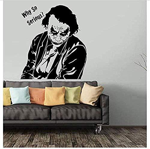 Adesivo da parete in vinile PVC, motivo: Joker Poker, per soggiorno, camera da letto, finestra, bagno, ufficio, dormitorio, negozio, 57 x 62 cm