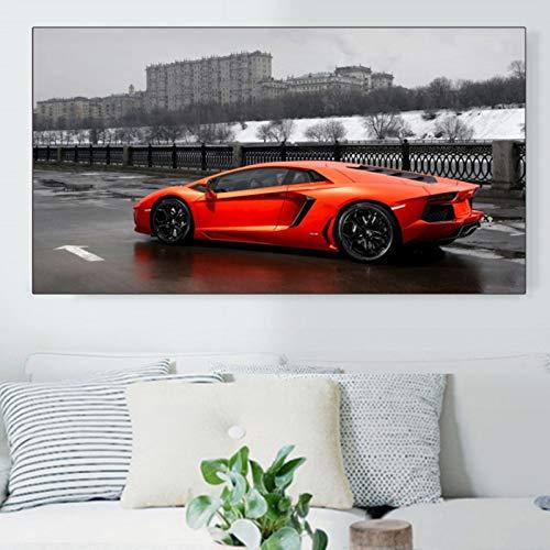 Geiqianjiumai Leinwand Kunstdruck Poster wanddekoration malerei berühmte Auto Wohnzimmer Dekoration rahmenlose malerei 60X80 cm