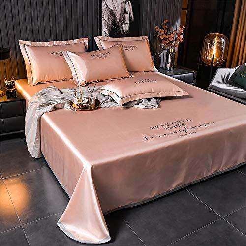 KIKIGO Conditioning Soft Mat,Summer Ice Silk Mat,Summer ice silk mat, foldable, washable air-conditioning soft mat-Bed linen jade_245*250cm