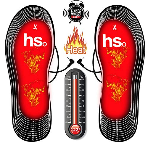 Heated Insoles Rechargeable Battery Powered Winter Insole Foot Warmer for Men...