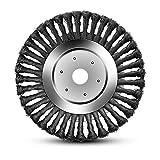 Hengda Cepillo Redondo Para Desbrozadora de 25,4 x 200mm Cepillo de Disco Cepillo Para Malas Hierbas Cepillo Redondo Para Desbrozadoras de Motor