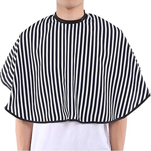 2Stk capa de peluquería corta Lavado Bar Hair Dressing Salon vestido pelo Cortes Delantal para peluquería, Blanco y Negro