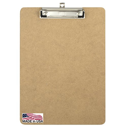 Officemate Letter Size Wood Clipboards, Low Profile Clip, 6 Pack Clipboard, Brown (83806) Photo #5