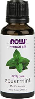 NOW Essential Oils, Spearmint Oil, Stimulating Aromatherapy Scent, Steam Distilled, 100% Pure, Vegan, 1-Ounce