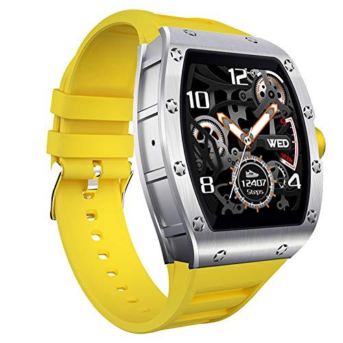 AYZE Reloj Inteligente Impermeable Ip68 Pantalla HD De 1,3', Batería De 230 mAh, 8 Modos De Fitness/Grabación De Datos De Sueño, Empuje De Información, Reloj Deportivo Hombre con GPS Yellow