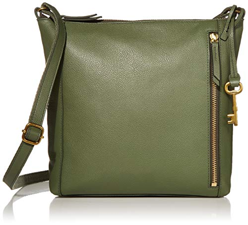 Fossil Womens Tara Leather Crossbody Handbag, Aloe Green, 9.38'L x 2.63'W x 9.5