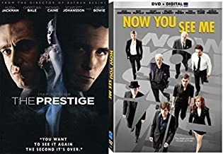 Look Close Magic Double Feature The Now You See Me DVD & Prestige Double Feature of illusion Movie Set