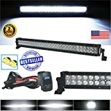 No.1 30 Inch LED Light Bar Arsenal Offroad 2020 Design Flood/Spot Combo Beam CREE 3w LED's 180w 18,000 Lumen Off Road Polaris RZR X4 UTV Trucks Raptor Jeep Can Am X3 FREE LED Light Rocker Switch Kit