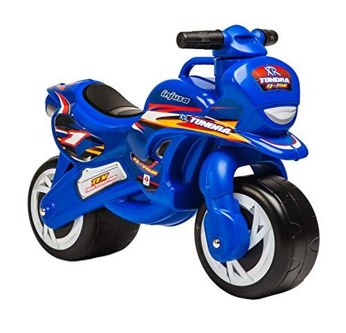 INJUSA - Laufrad Tundra Blau mit breiten Rädern und Tragegriff Empfohlen für Kinder ab 18 Monaten