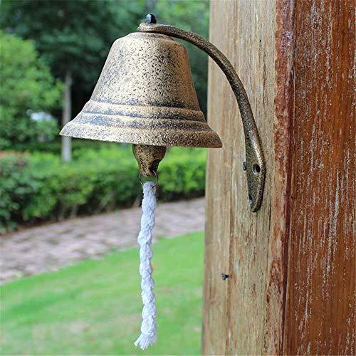 Tyueliang-decoratie scheepsbel klassiek rustieke metalen wandmontage deuroproepverdeling klok grote landhuisstijl gietijzer diner bel wind chime hanging home decor wandmontage