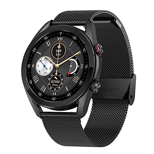 LKXL Smarte Uhren HD rundes Bildschirm Herzfrequenz kardiochastischer Druck Sauerstoff Musiksteuerung