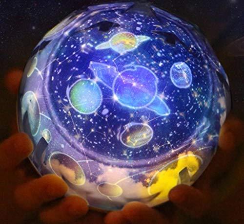 NOUVEAU Fantasy Universe LED Magic Projecteur Lampe Rotate Planet Star Anniversaire Night Light Noël Fête De Mariage Enfants Jouets Cadeau, Rotation