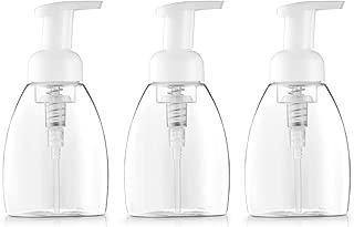 Bar5F Foaming Soap Dispenser Pump-Bottle for Dr. Bronner's Castile Liquid Soap, 250ml (8.5 oz) Pack of 3