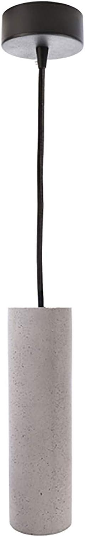 Moderne Hngelampe Zylinder LED 8 W Beton Pendelleuchte GU10 Bianco frotdo