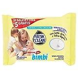 Fresh & Clean Salviettine Baby, Confezione da 25 Pezzi