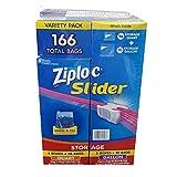 Ziploc ジップロック スライダーバッグ 166枚(クオート 96枚、ガロン70枚)