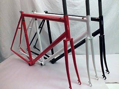 Mercier Unbranded Kilo TT Stripper Track Single Speed Frame & Fork Reynolds Cro Moly Steel (White Splash, 53cm)