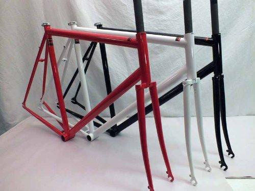Mercier Unbranded Kilo TT Stripper Track Single Speed Frame & Fork Reynolds Cro Moly Steel (White Splash, 50cm)